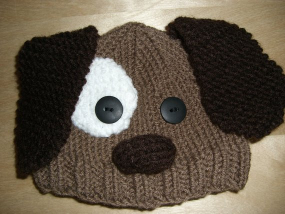 Fresh Knitted Baby Beanie Hat Brown Puppy Dog by Niftynookdesigns Knitted Dog Hats Of Innovative 49 Images Knitted Dog Hats