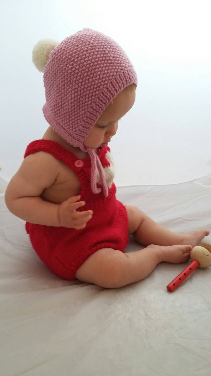 Fresh Knitted Baby Bonnet Knit Baby Hat with Pompombaby Hat Knitted Baby Bonnet Of Top 47 Pics Knitted Baby Bonnet