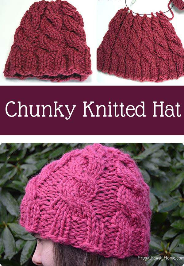 Knitted Cable Hat Project