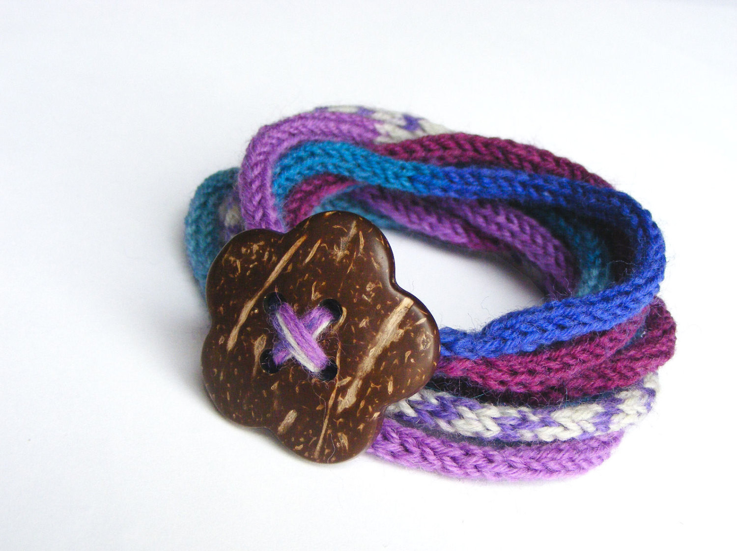 Fresh Knitted Cord Bracelet with button Women S Knitted Knitted Bracelet Of Brilliant 50 Models Knitted Bracelet