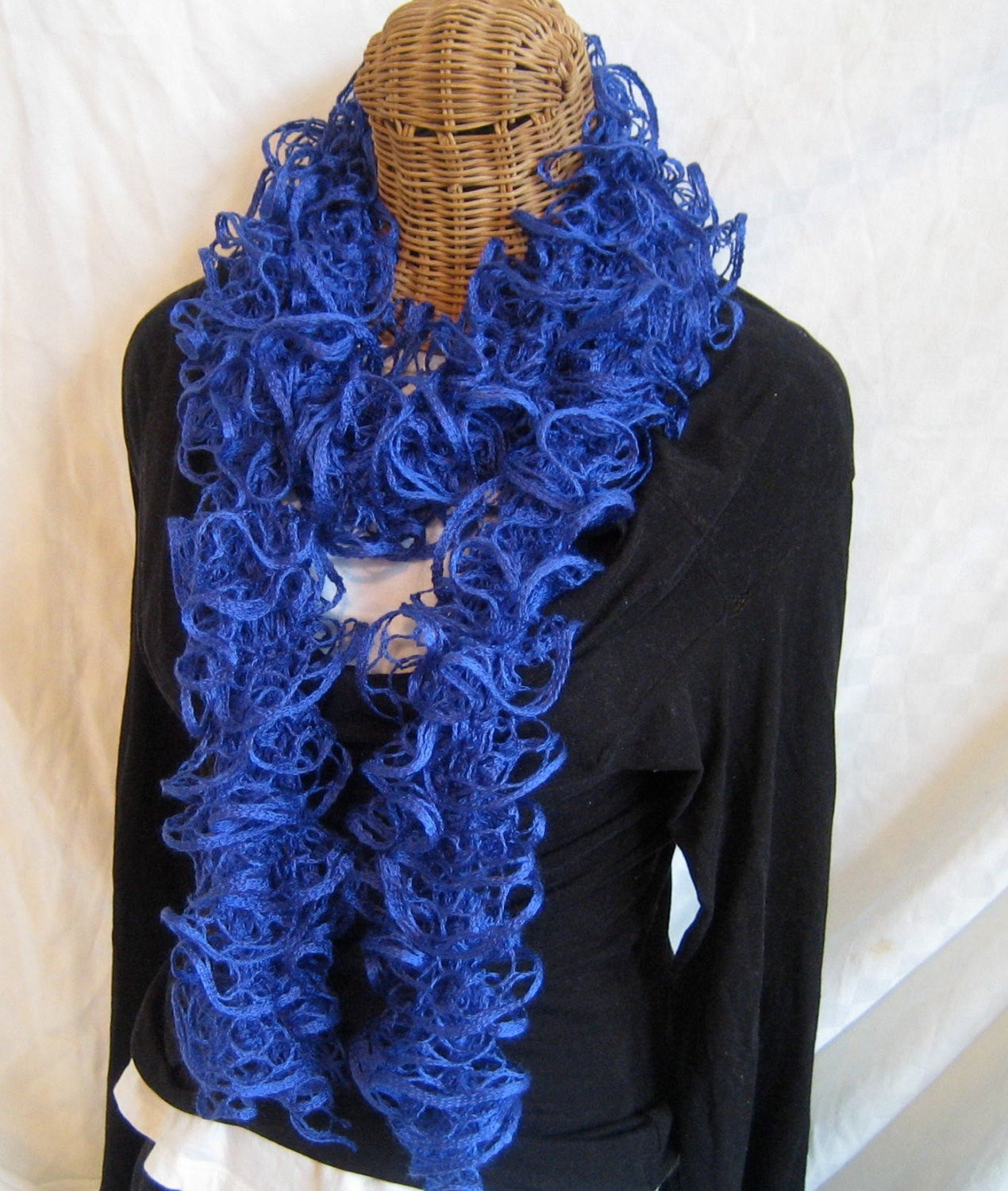 Fresh Knitted Ruffle Scarf Royal Blue Frilly by Frillyscarvesbyliz Ruffle Scarf Of Unique 50 Pics Ruffle Scarf