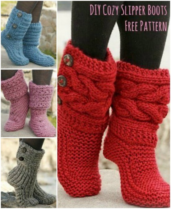 Fresh Knitted Slippers Pattern the Sweetest Ideas Knitted Slipper Boots Of Superb 41 Pics Knitted Slipper Boots