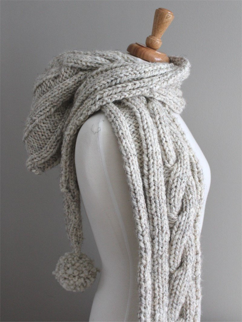 Fresh Knitting Pattern Cable Hooded Scarf Pdf Knitting Pattern Cable Scarf Pattern Of Attractive 46 Pics Cable Scarf Pattern