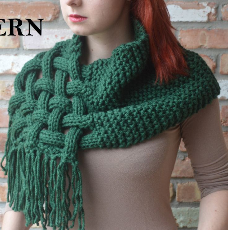 Fresh Knitting Pattern Celtic Woven Scarf Ad Can Be Worn as A Chunky Knit Scarf Pattern Of Adorable 50 Ideas Chunky Knit Scarf Pattern