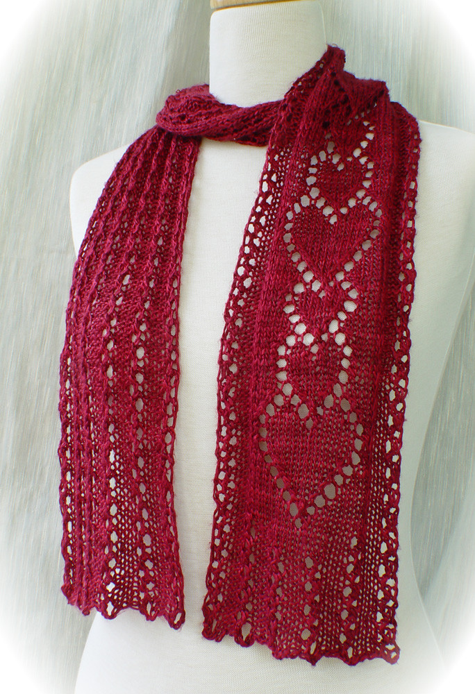 Fresh Knitting Patterns Lace Beads and More From Heartstrings Lace Scarf Pattern Of Innovative 44 Photos Lace Scarf Pattern