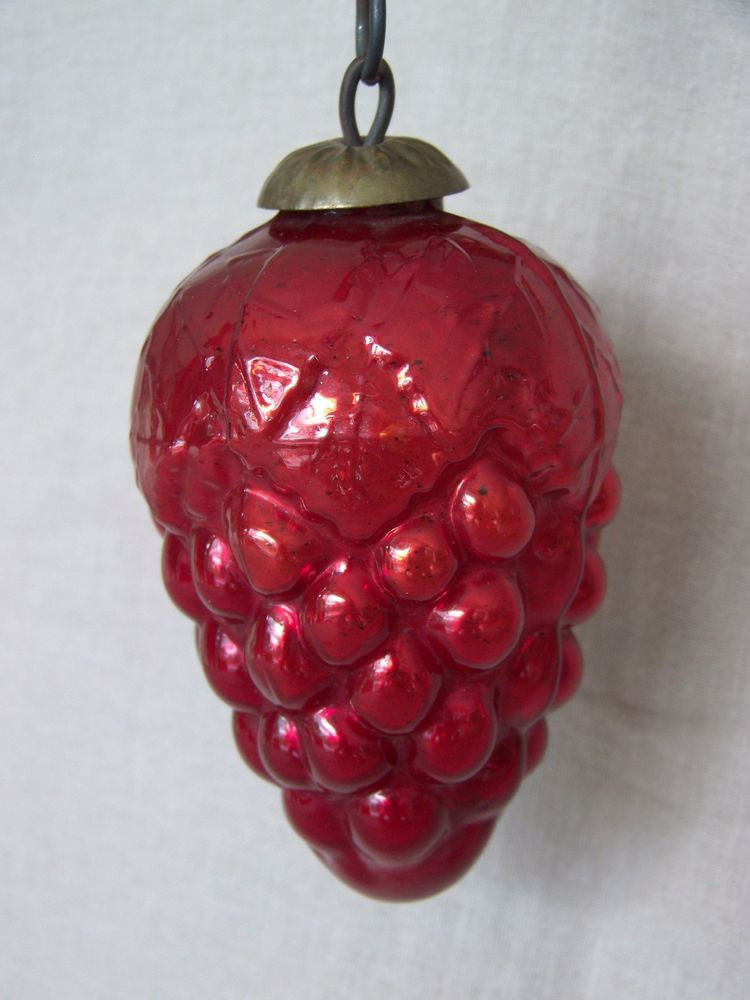 "Fresh Kugel 4"" Grapes Cluster Christmas ornament Ruby Red Vintage Glass ornaments Of New 48 Ideas Vintage Glass ornaments"