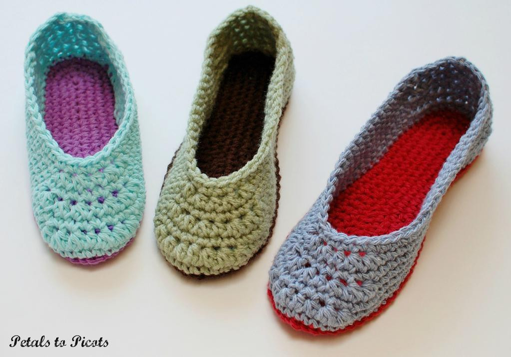 Fresh La S Slippers Women S Sizes 4 11 by Petals to Picot Crochet Womens Slippers Of Luxury 49 Pictures Crochet Womens Slippers