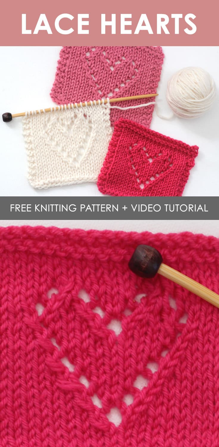Fresh Lace Hearts Knit Stitch Pattern with Video Tutorial Knitting Design Of Incredible 42 Images Knitting Design