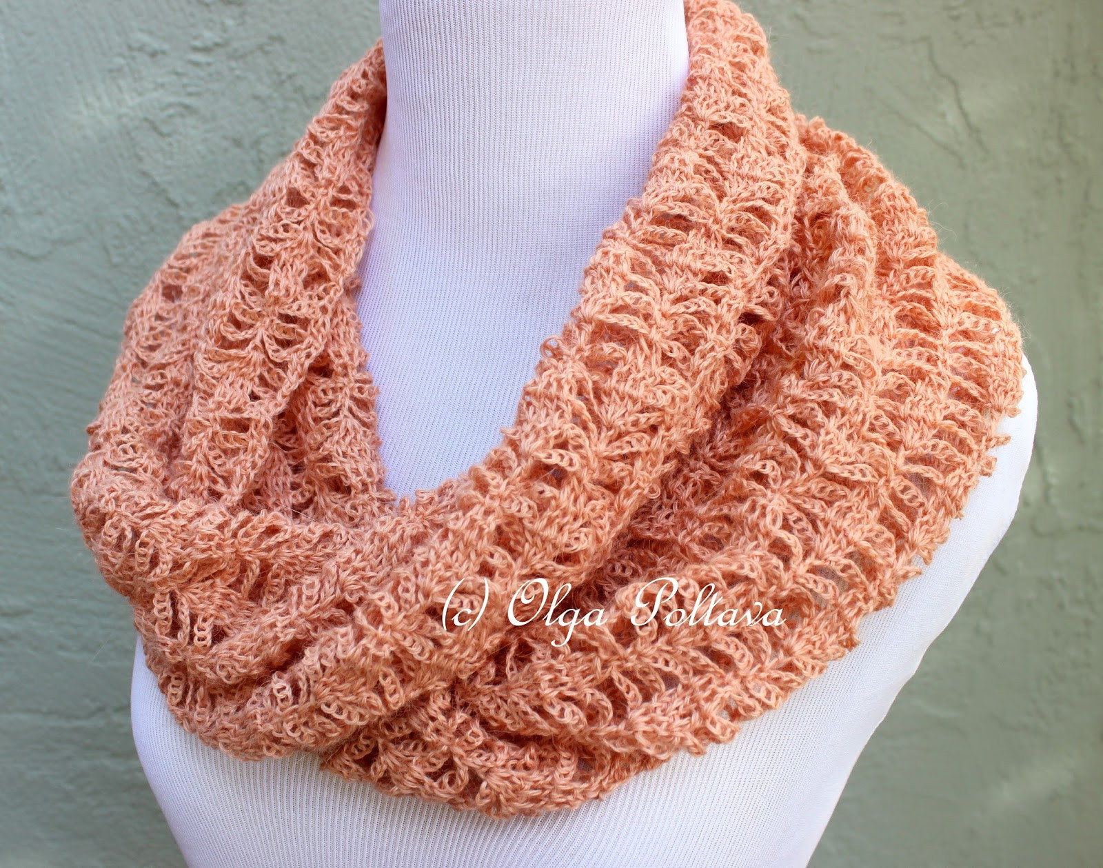 Fresh Lacy Crochet Peach Lace Infinity Crochet Scarf Crochet Lace Scarf Pattern Of Great 44 Pictures Crochet Lace Scarf Pattern