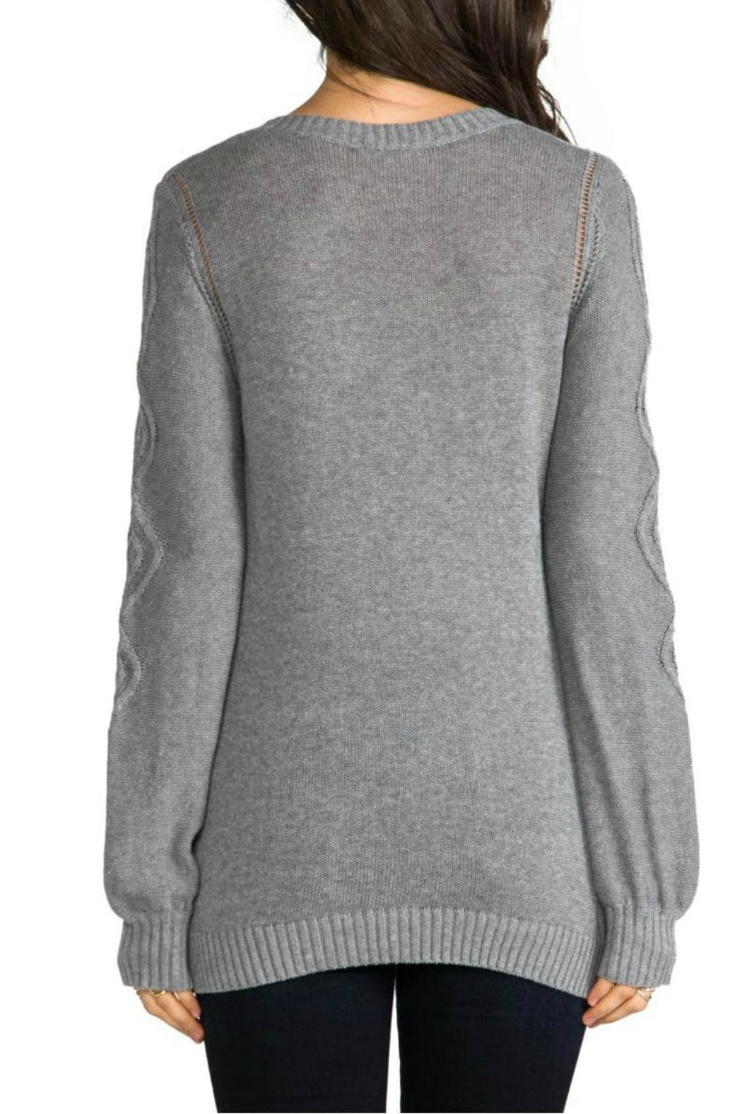 LaMade V Neck Cable Knit Sweater from Washington by