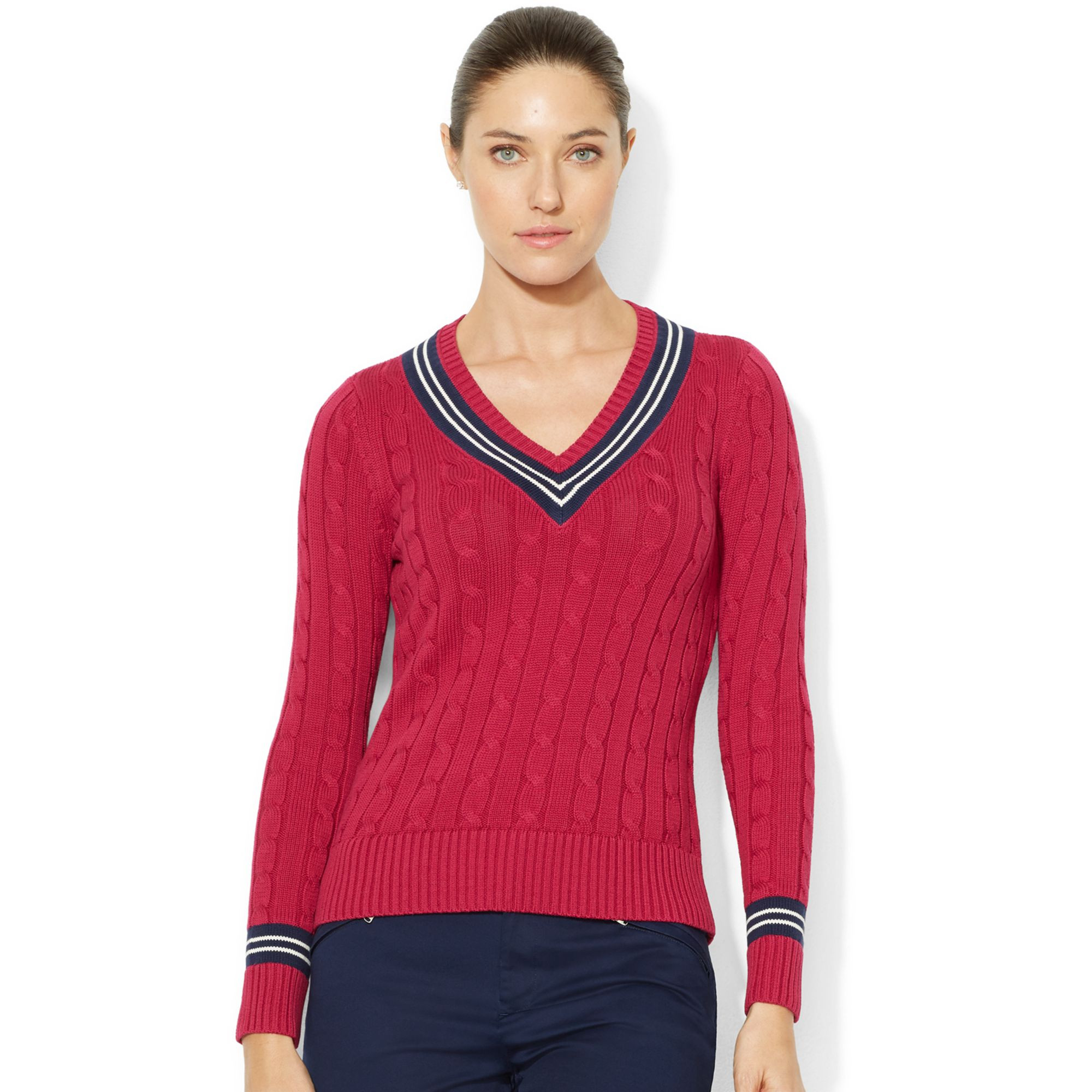 Fresh Lauren by Ralph Lauren V Neck Cable Knit Cricket Sweater V Neck Cable Knit Sweater Of Great 44 Pictures V Neck Cable Knit Sweater