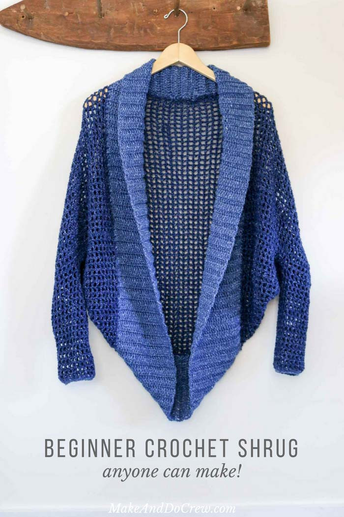 Lightweight Easy Crochet Shrug Free Pattern Make