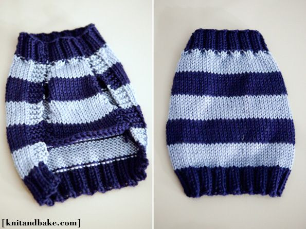 Linus' Sweater Easy Dog Sweater Knitting Pattern