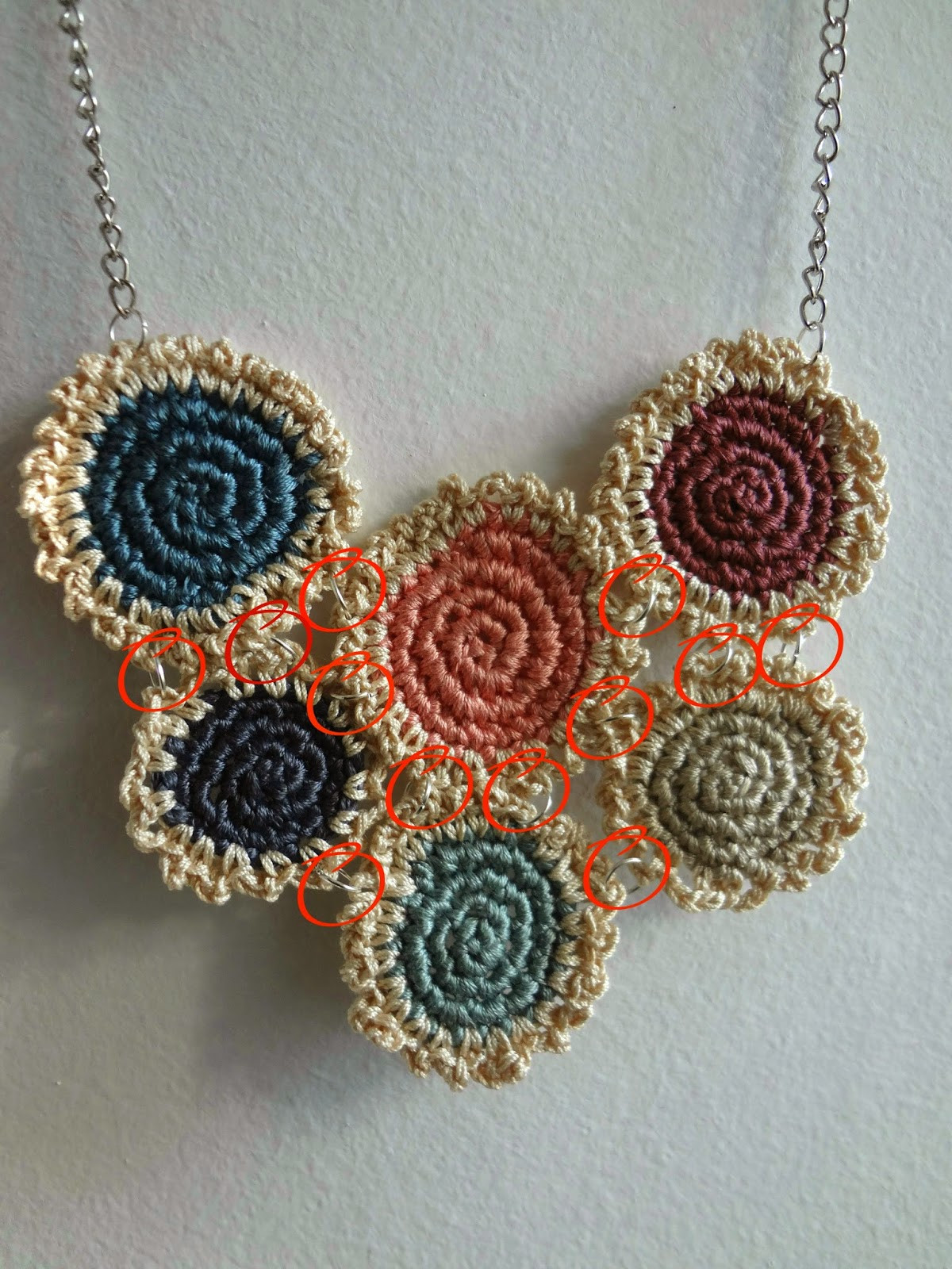 Fresh Little Treasures Crochet Mini Doilies Necklace and Crochet Jewellery Patterns Of Great 48 Models Crochet Jewellery Patterns