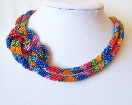 Fresh Long Beaded Crochet Rope Necklace Geometric Beadwork Wrap Crochet Bead Necklaces Of Unique 44 Photos Crochet Bead Necklaces