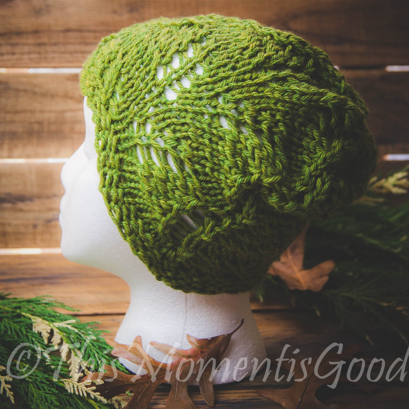 LOOM KNIT FERN LACE HAT PATTERN LIGHTWEIGHT HAT PATTERN