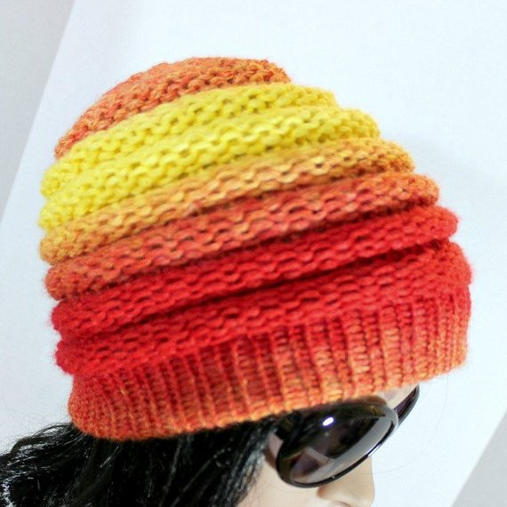 Fresh Loom Knit Hat Patterns Ombre Beanie Pattern for Extra Making A Hat On A Loom Of Attractive 43 Pics Making A Hat On A Loom