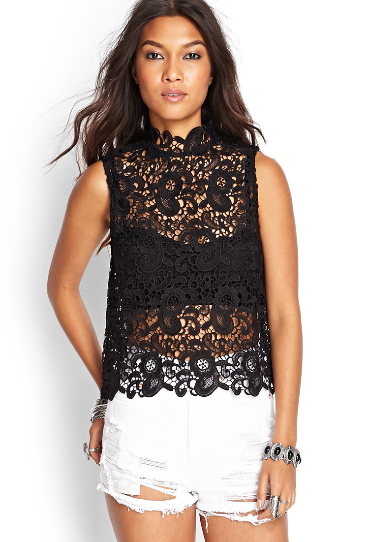 Fresh Lyst forever 21 Floral Crochet top You Ve Been Added to Crochet tops forever 21 Of Amazing 46 Pics Crochet tops forever 21