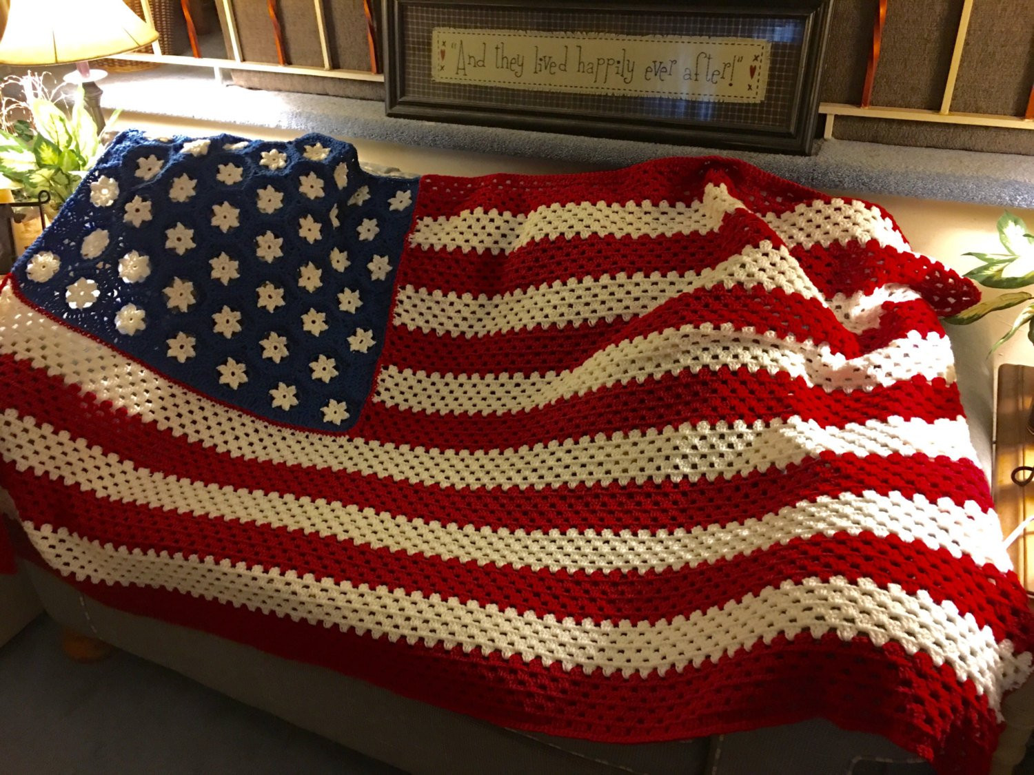 Fresh Made to order American Flag Inspired Crochet Blanket 46 6 American Flag Crochet Pattern Of Attractive 40 Pics American Flag Crochet Pattern