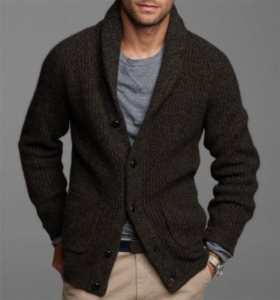 Fresh Made to order Men Hand Knitted Cardigan Hooded Turtleneck Mens Patterned Cardigan Of Charming 50 Models Mens Patterned Cardigan