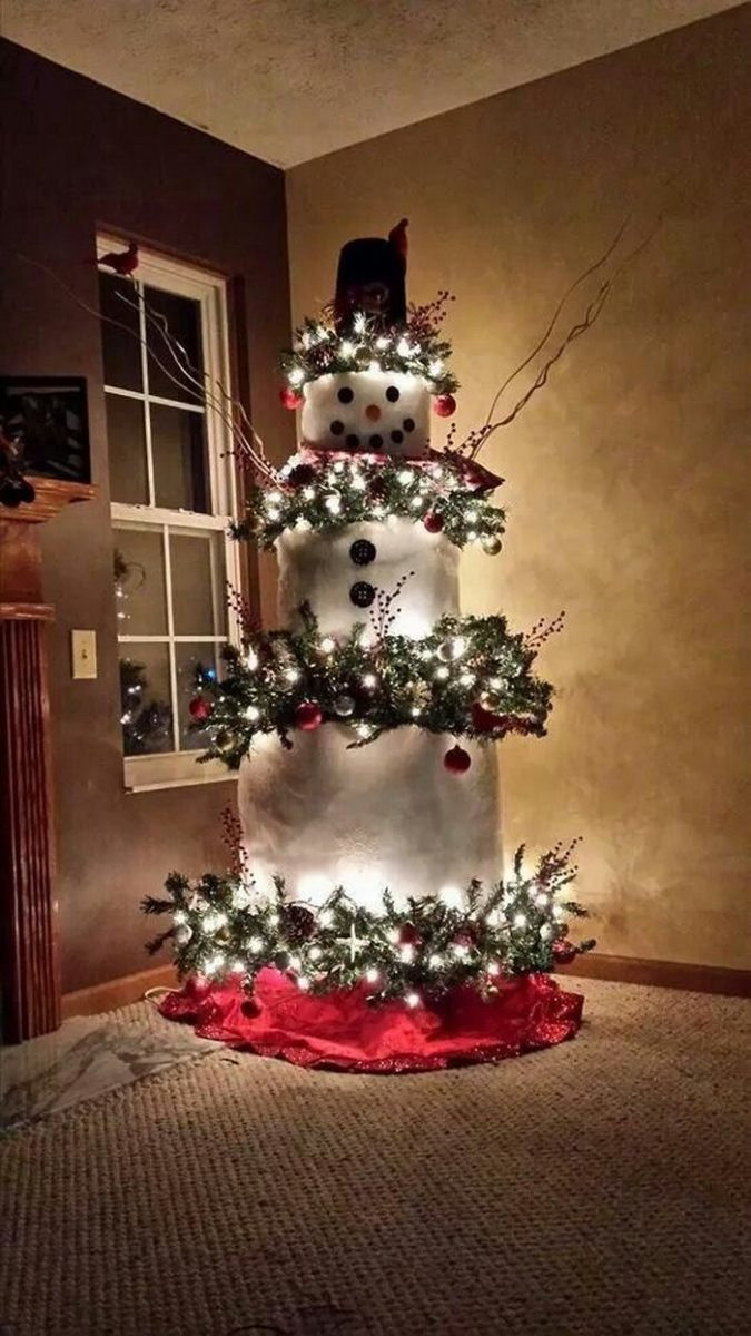 Fresh Make A Snowman Out Of A Christmas Tree Snowman Christmas Tree Decorations Of Adorable 46 Pictures Snowman Christmas Tree Decorations