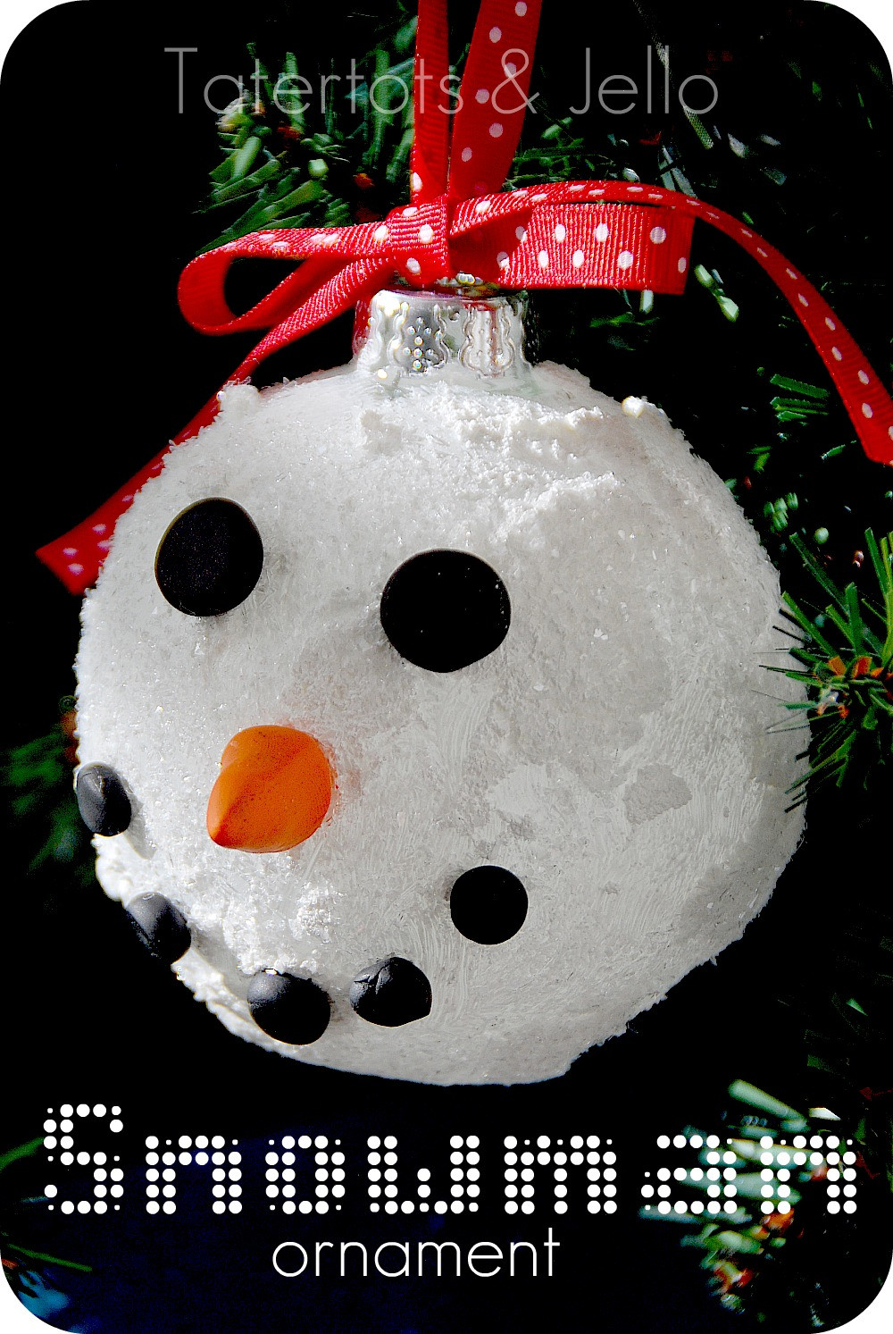 Make Sparkly Snowman Ornaments plus 12 of my Favorite