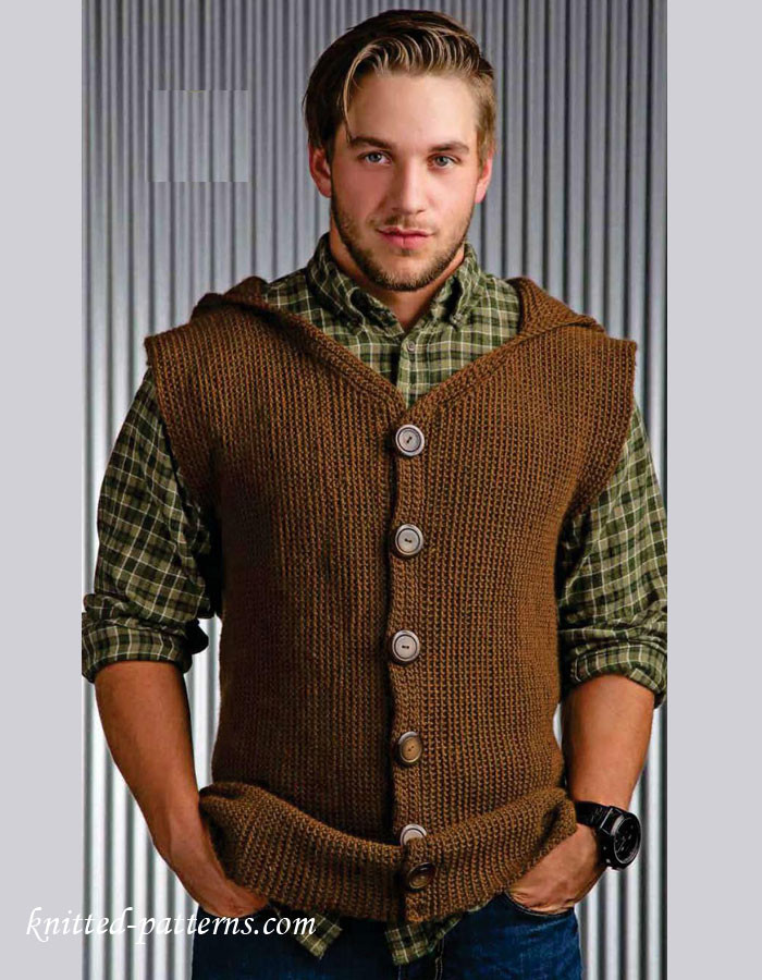 Fresh Men S Sleeveless Jacket Crochet Pattern Free Women's Knitted Vest Patterns Of Amazing 48 Ideas Women's Knitted Vest Patterns