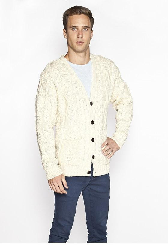 Fresh Men S V Neck Cable Knit Cardigan Aran Sweaters Direct Mens Cable Cardigan Of Top 48 Pics Mens Cable Cardigan