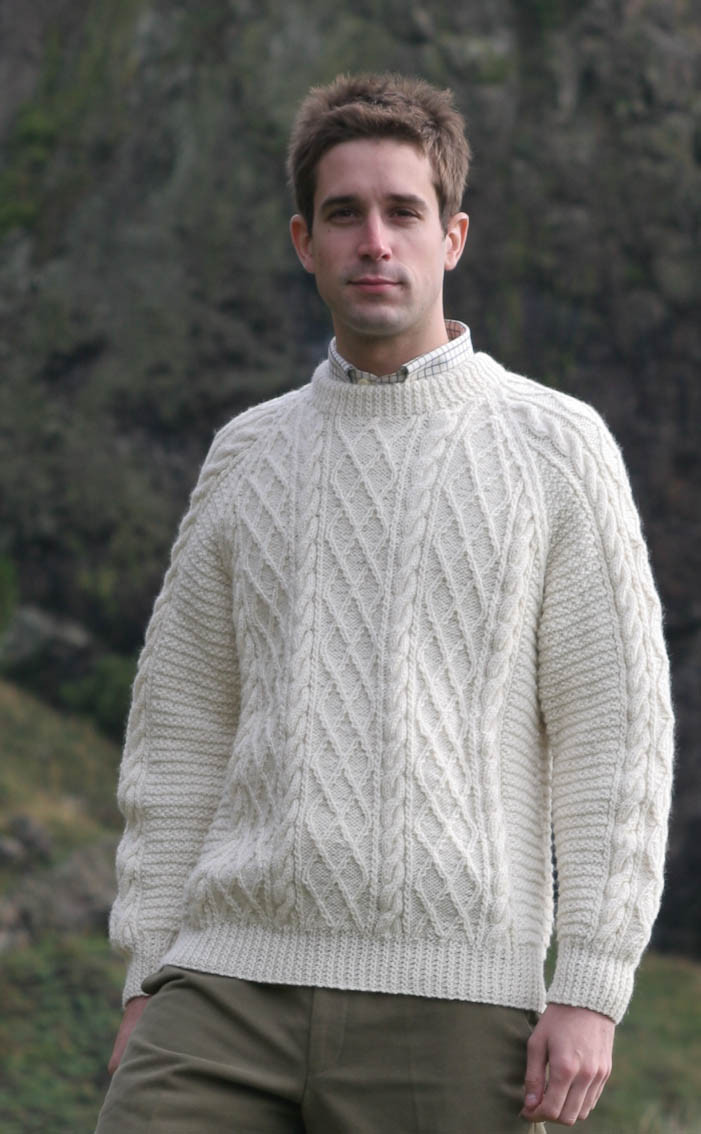 Mens Aran Jumper Patterns Long Sweater Jacket