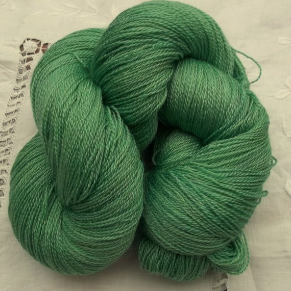 Fresh Merino Silk Lace Yarn 100g Hand Dyed Emerald Green Emerald Green Yarn Of Gorgeous 43 Pics Emerald Green Yarn