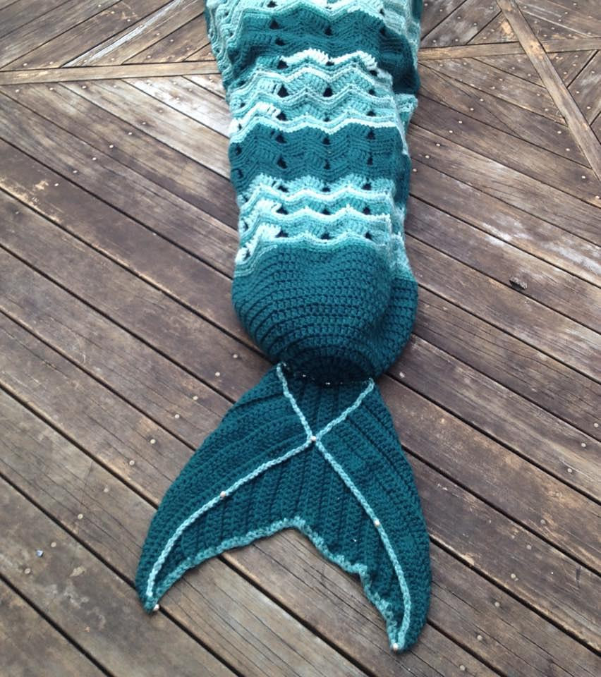 Mermaid Tail Crochet Blanket Crochet pattern by