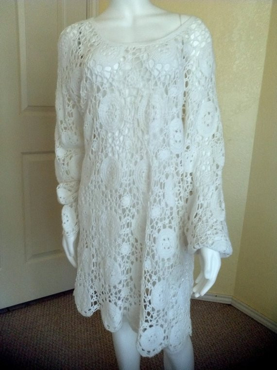 Fresh Mexican White Crochet Beach Wedding Dress Boho Dress Knit White Crochet Beach Dress Of Brilliant 42 Pics White Crochet Beach Dress