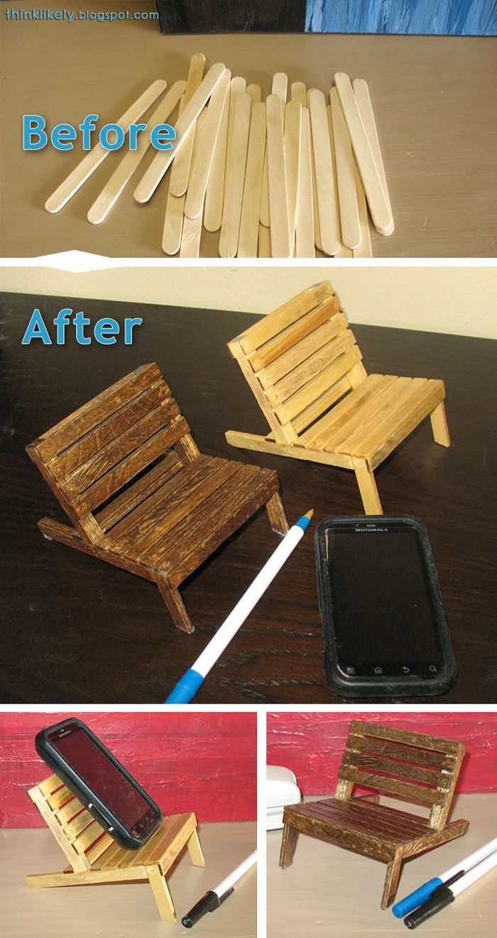 Fresh Mini Pallet Chair Cell Phone Holder Made From Popsicle Mini Popsicle Sticks Of Great 46 Photos Mini Popsicle Sticks