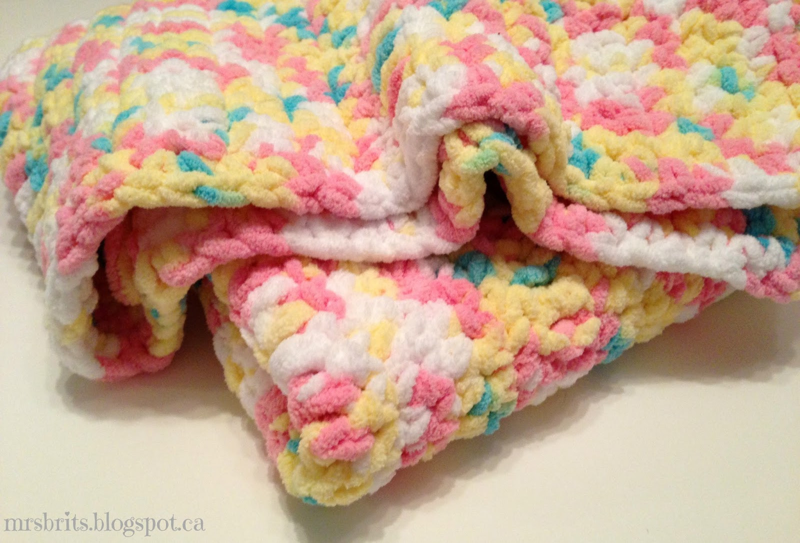 MrsBrits Sweet and Chunky Baby Afghan Crochet Pattern