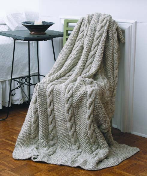 Fresh Natural Cables Throw In Lion Brand Wool Ease Chunky Knitted Throw Pattern Of Awesome 45 Photos Knitted Throw Pattern
