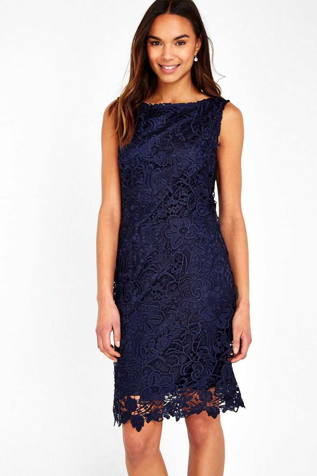 Fresh Navy Crochet Lace Shift Dress Wallis Crochet Trim Dresses Of Attractive 47 Images Crochet Trim Dresses