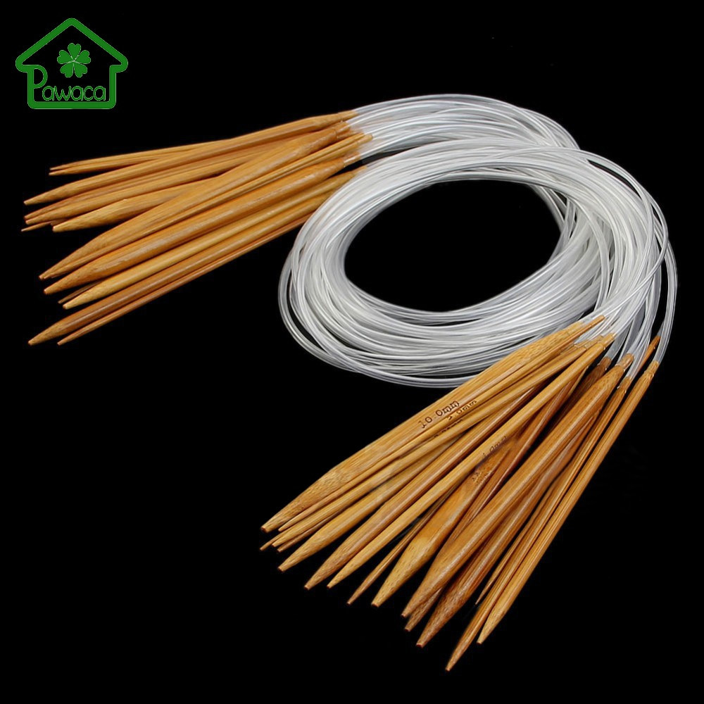 Fresh New 18pcs 18 Sizes 2 0 10mm Nature Bamboo Circular Round Knitting Needles Of Amazing 50 Pics Round Knitting Needles