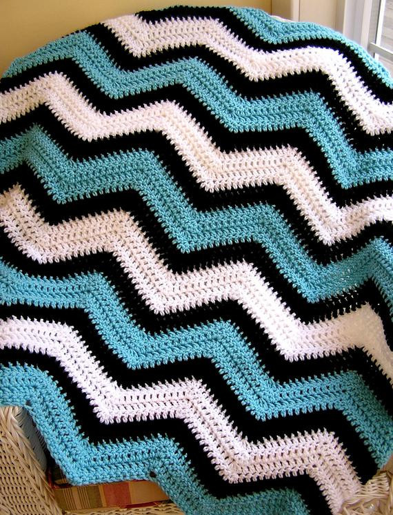 Fresh New Chevron Zig Zag Baby Blanket Afghan Wrap Crochet Knit Lap Zig Zag Crochet Afghan Pattern Of New 43 Pics Zig Zag Crochet Afghan Pattern