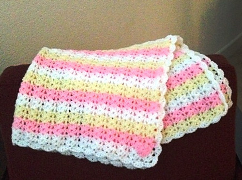 New Class Shell Stitch Baby Blanket