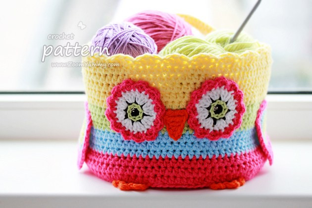 New Pattern – Crochet Owl Basket Crochet Zoom Yummy