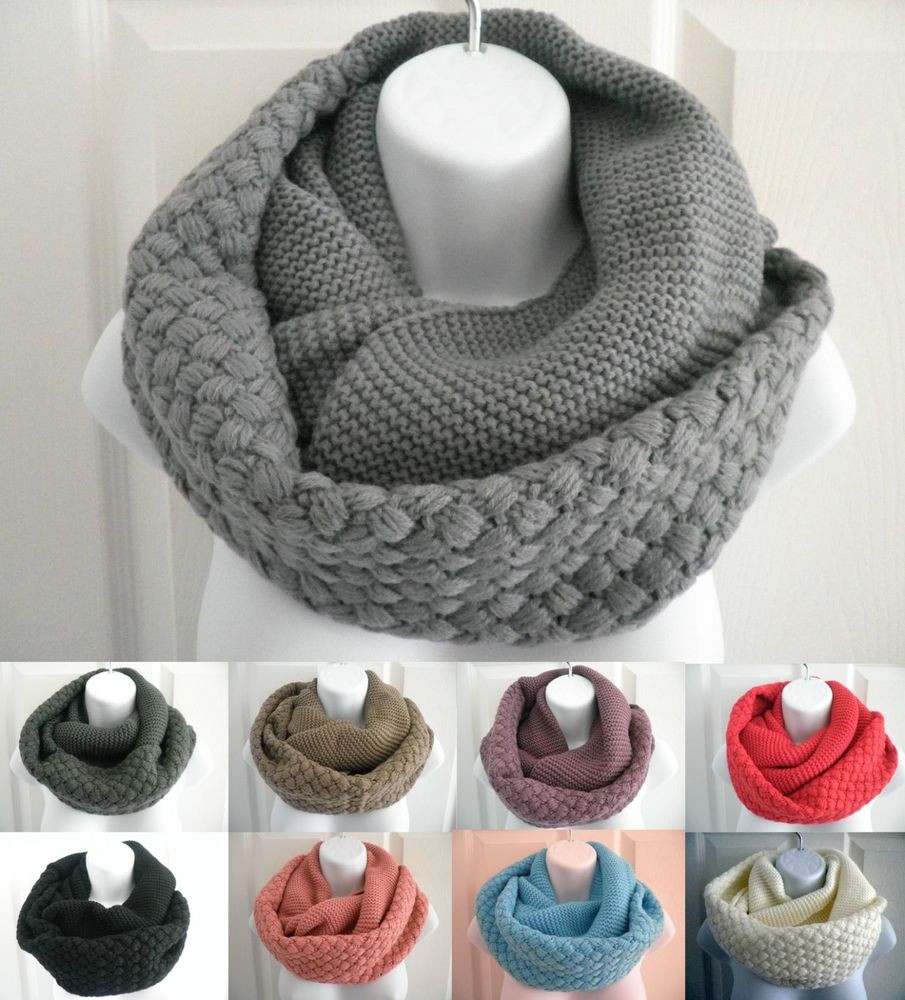 Fresh New Women Winter Warm Infinity Circle Cable Knit Cowl Neck Knit Circle Scarf Of Brilliant 47 Photos Knit Circle Scarf