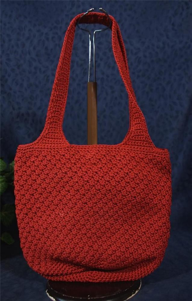 Fresh Nice Vintage the Sak Knitted Crocheted Red Fabric Bucket the Sak Bags Crochet Of Innovative 40 Photos the Sak Bags Crochet