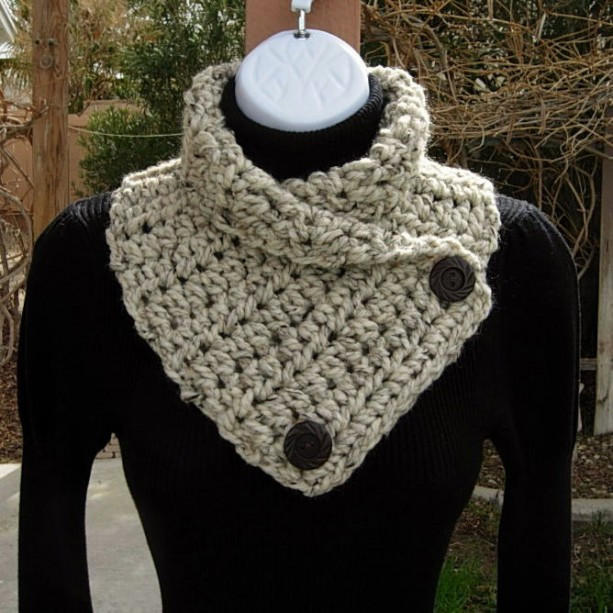 Fresh Oatmeal Neck Warmer Scarf Handmade Crochet Knit Cowl Crochet Cowl Neck Scarf Of Superb 49 Models Crochet Cowl Neck Scarf