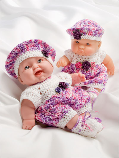 Oh So Cute Dolls Clothes Crochet Pattern Book AA