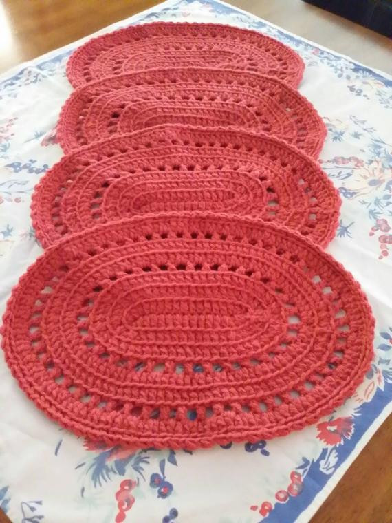 Fresh Oval Crocheted Placemats Crochet Placemats Of Gorgeous 40 Models Crochet Placemats