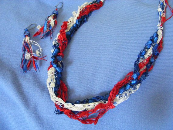 Fresh Patriotic Red White & Blue Ladder Yarn Necklace Red White and Blue Yarn Of Awesome 48 Pictures Red White and Blue Yarn