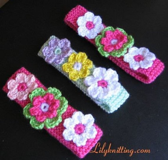 Fresh Pattern In Pdf Crocheted Knitted Flower Baby Headband Crochet Bands Of Adorable 46 Pics Crochet Bands