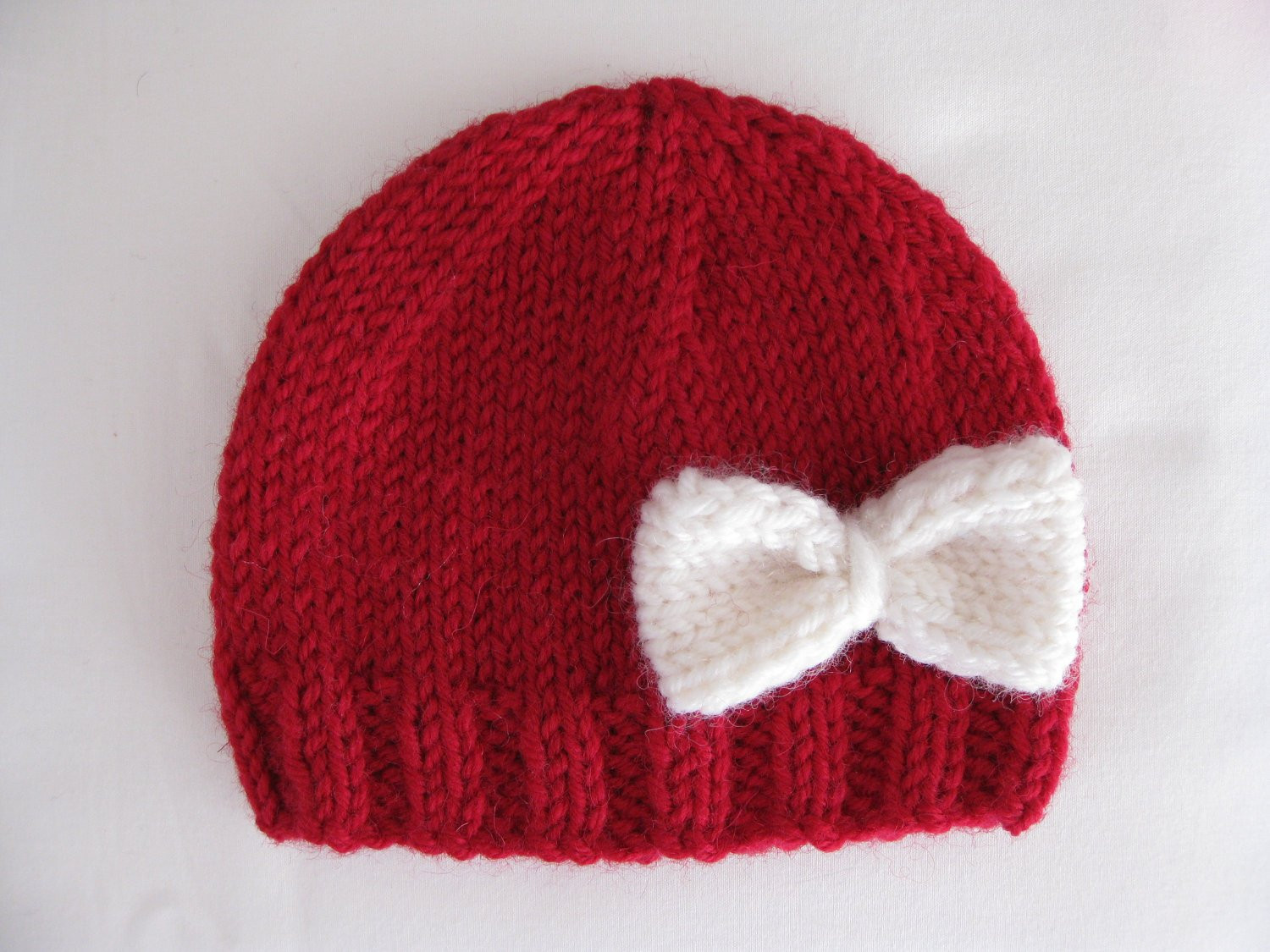 Fresh Pattern Knit Preemie Newborn Hat Bow Baby Beanie 8ply Dk Newborn Hat Knitting Pattern Of Lovely 49 Images Newborn Hat Knitting Pattern