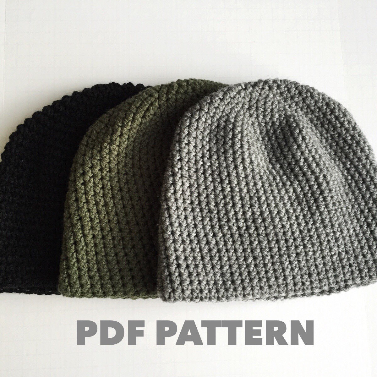 Pattern Mens Easy Hat Crochet Beanie Seamless Simple Basic