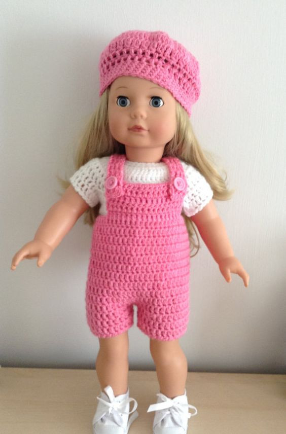 Fresh Pdf Crochet Pattern for Dungarees Set for 18 Inch Doll American Girl Doll Crochet Patterns Of Adorable 47 Pics American Girl Doll Crochet Patterns